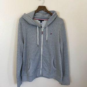 [Tommy Hilfiger] Grey Hooded Full Zip Sweatshirt